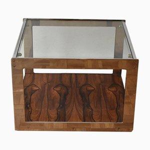 Tavolino in metallo cromato e vetro di Richard Young per Merrow Associates, anni '70