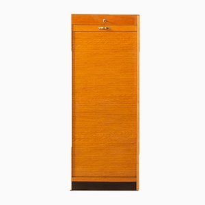Oak Veneered Roller Shutter Cabinet, 1950s