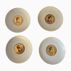 Emporers Plates by Atelier Fornasetti, 1940s, Set of 4