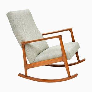Rocking Chair en Merisier, Danemark, 1960s