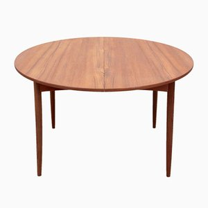 Model 4/6 Round Teak Extendable Dining Table from Elsteds Mobelfabrik, 1960s