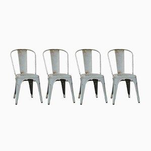 Beistellstühle mit grauem Bezug von Xavier Pauchard, 1930er, 4er Set