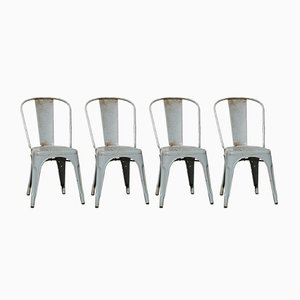 Gray Side Chairs by Xavier Pauchard, 1930s, Set of 4