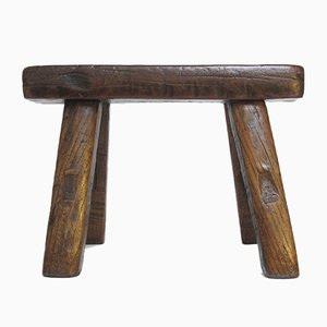 Low Antique Chinese Wooden Stool