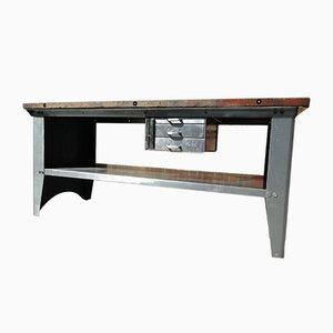 Arbeitstisch aus Metall & Mahagoni, 1960er