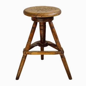 Tabouret Pivotant Antique