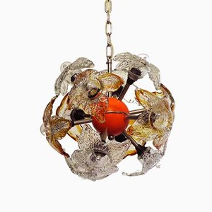 Italian Murano Glass Chandelier by Mazzega, 1970s