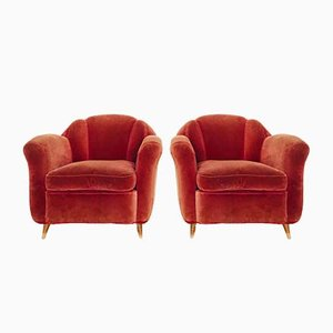 Italian Sofa and Armchairs by Guglielmo Ulrich, 1950s, Set of 3