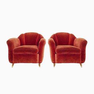 Italienisches Sofa & Sessel von Guglielmo Ulrich, 1950er