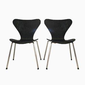 Serie 7 Esszimmerstühle von Arne Jacobsen für Fritz Hansen, 1970er, 2er Set