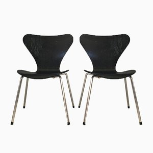 Series 7 Dining Chairs by Arne Jacobsen for Fritz Hansen, 1970s, Set of 2
