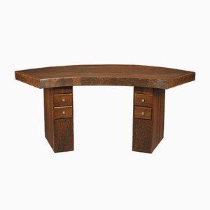 Schreibtisch aus Palmenholz, 1930er