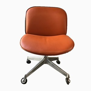 Italian Rosewood Swivel Chair by Ico Luisa Parisi for MIM, 1950s