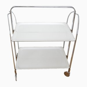Foldable White Formica Trolley from Dinett, 1960s