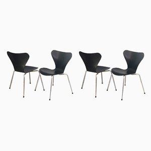 Chaises de Salle à Manger Série 7 par Arne Jacobsen pour Fritz Hansen, 1970s, Set de 4