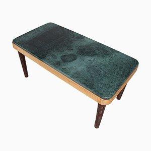 Mesa consola de nogal y mármol de Osvaldo Borsani para Atelier Borsani Varedo, años 40