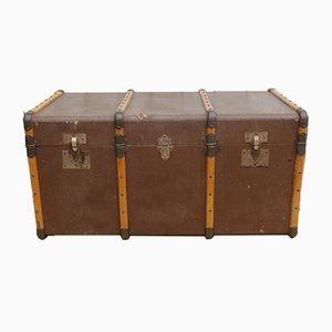 French Industrial Steamer Trunk, 1930s