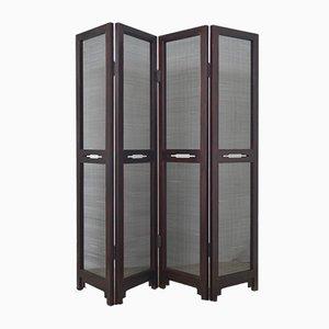 Antiker 4-teiliger chinesischer Raumteiler aus Holz