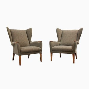 Wingback Armchairs from Parker Knoll, 1960s, Set of 2
