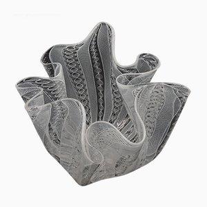 Mid-Century Vase in Servietten-Optik von Fulvio Bianconi für Venini