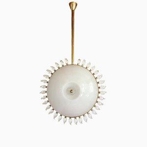 Lámpara de araña de vidrio y latón de Cenedese, años 70