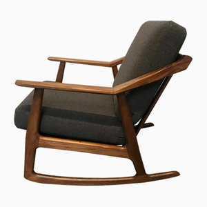 Rocking Chair en Teck par H. Brockmann Petersen, 1960s
