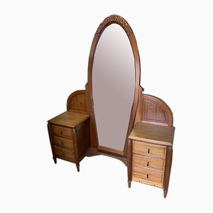 Tocador Art Déco con espejo, años 20