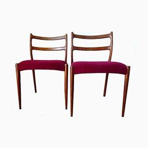 Chaises de Salle à Manger en Teck de Soren Ladefoged, Danemark, 1960s, Set de 2