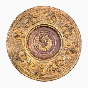 Antikes italienisches Schild aus Bronze von Antonio Pandani