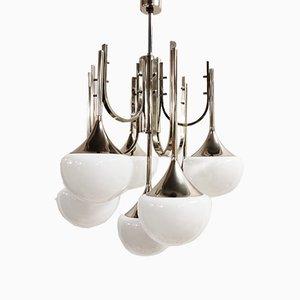 Lámpara de araña Trumpet de Goffredo Reggiani, años 70