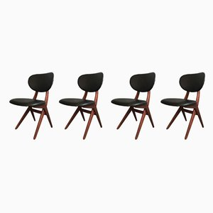 Dining Chairs by Louis van Teeffelen for WéBé, 1950s, Set of 4