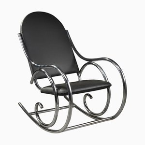 Tubular Metal Rocking Chair from Thonet, 1950s