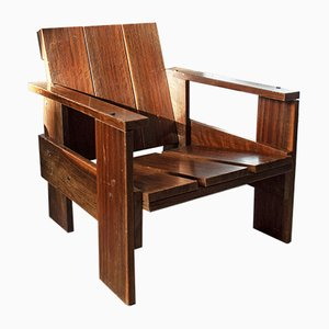 Rosewood Lounge Chair by Gerrit Rietveld, 1950s