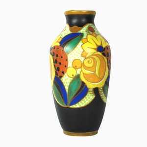 Art Deco Ceramic Vase by Vittorio Bonuzzi, 1930s