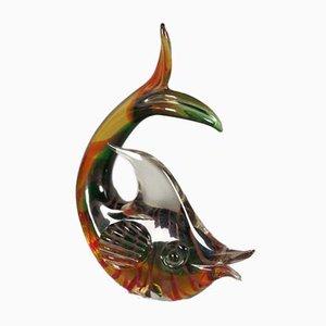 Scultura a forma di pesce in vetro di Murano, anni '50