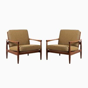 Mid-Century Teak Armchairs by Eric Wørtz for Ikea, Set of 2