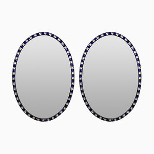 Stud Framed Mirrors, 1970s, Set of 2