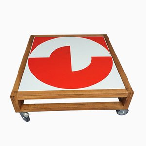 Square Coffee Table by Jacques Tissinier for Prisunic et Chabrieres, 1974