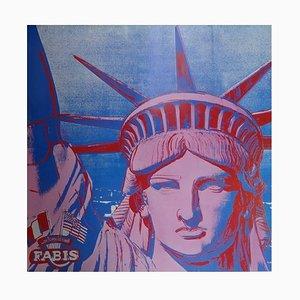 Poster della mostra Statues of Liberty di Andy Warhol, 1986