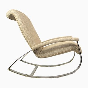 Mid-Century Chrome Rocking Chair by Guido Faleschini