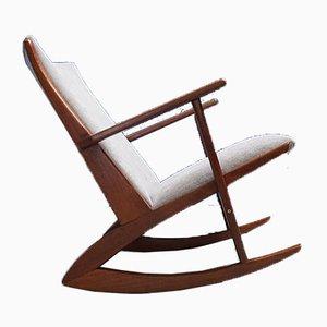 Rocking Chair Modèle 97 en Teck par Søren Georg Jensen pour Tønder Møbelværk, Danemark, 1958