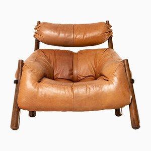 Modell MP-81 Sessel mit Gestell aus Palisander & Bezug aus brasilianischem Leder von Percival Lafer, 1960er