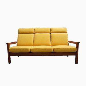 Sofá de teca de Juul Kristensen para Glostrup, años 60