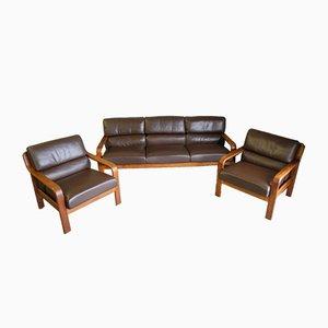 Mid-Century Sofa & Beistellstühle von L. Olsen & Son, 3er Set