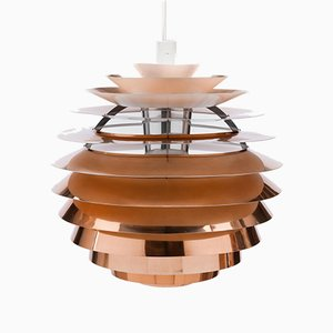 Vintage PH Louvre Pendant Lamp by Poul Henningsen for Louis Poulsen, 1950s