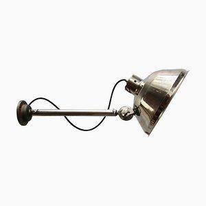 Lámpara de pared médica industrial vintage de metal, años 50