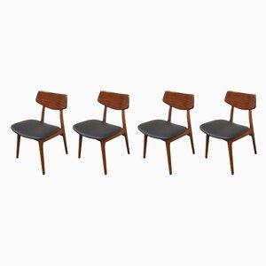Dutch Model Stavanger Dining Chairs by Louis van Teeffelen for WéBé, 1960s, Set of 4