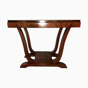 French Walnut Coffee Table, 1930s