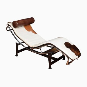 Model LC4 Brown and White Sofa by Le Corbusier , 1920s