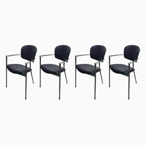 Spanish Model Andrea Side Chairs by Josep Llusca for Andreu World, 1986, Set of 4